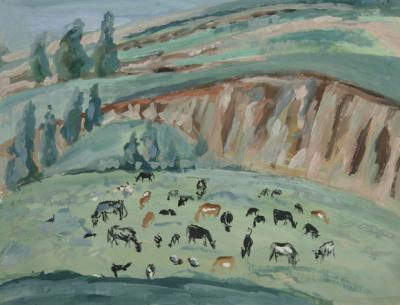 Коровы на выгоне. Деревня Заполье. 1932.jpg (189 kb)